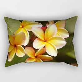 Elegant Simplicity is the Hawaiian Plumeria Rectangular Pillow
