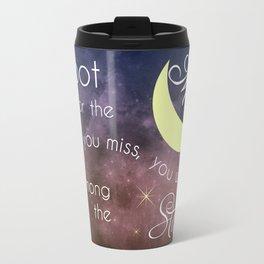 Motivational Les Brown Shoot for the Moon Travel Mug