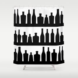 Classic Bottles Shower Curtain