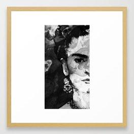 Black And White Frida Kahlo by Sharon Cummings Framed Art Print