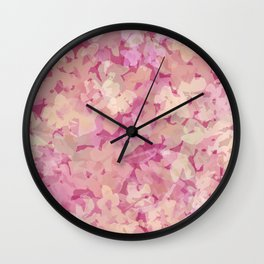 Peach Pie Floral Wall Clock