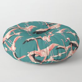 tropical flamingos Floor Pillow