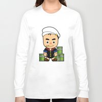 popeye Long Sleeve T-shirts featuring Popeye  by Jefferson Ng
