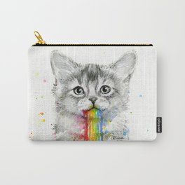 Kitten Puking Rainbows Cat Rainbow Vomit Carry-All Pouch