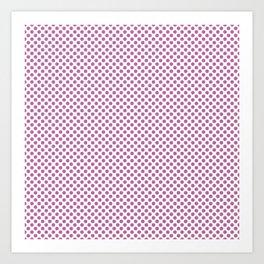 Spring Crocus Polka Dots Art Print