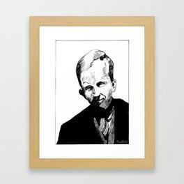 Harold Innis (economic historian, communications scholar) Framed Art Print