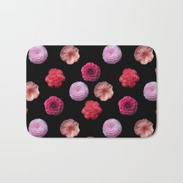 Pattern with camellias Bath Mat