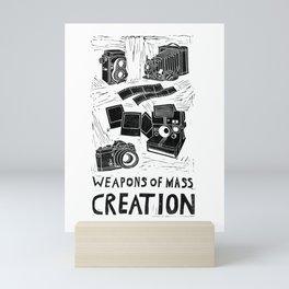 Weapons Of Mass Creation - Photography (blockprint) Mini Art Print
