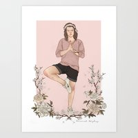 coconutwishes Art Prints featuring Peaceful by Coconut Wishes