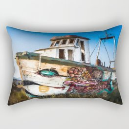 An Wooden old Ship 2 Rectangular Pillow