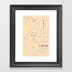 Haikuglyphics - On Lava Framed Art Print
