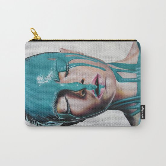 Paint on Cara Carry-All Pouch