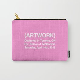 (ARTWORK) Pink Carry-All Pouch