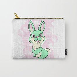 Green kitsch bunny rabbit Carry-All Pouch