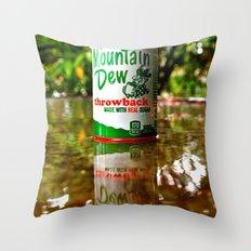 Mountain Dew reflected Throw Pillow