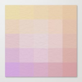 Pixel Gradient between Soft Yellow and Grayish Red Canvas Print