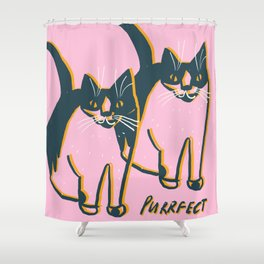 All is Purrfect Cats Shower Curtain