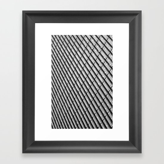 Canary Wharf  Abstract Framed Art Print