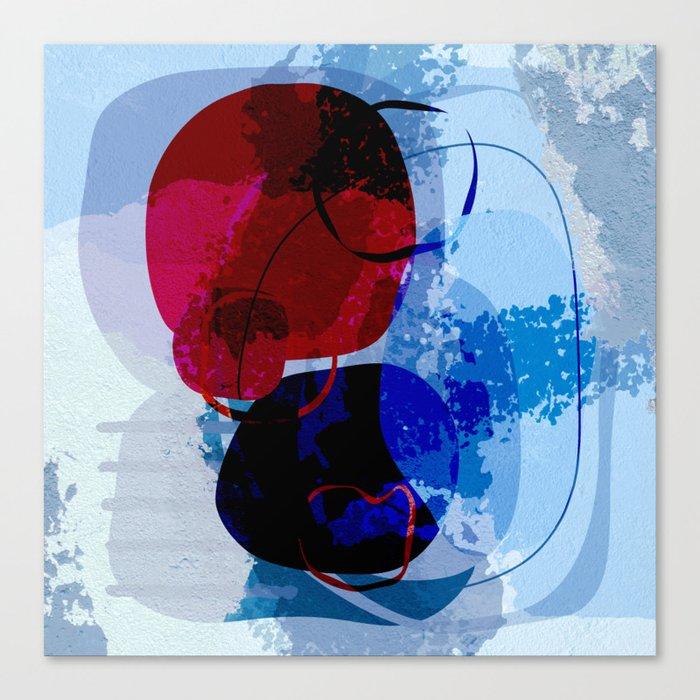 Modern art blue Canvas Print