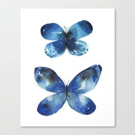 Blue Sky Butterflies Canvas Print