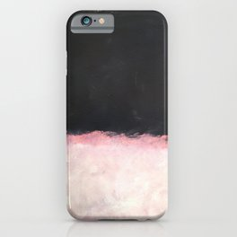 Mark Rothko - Untitled - Pink and Black Artwork iPhone Case