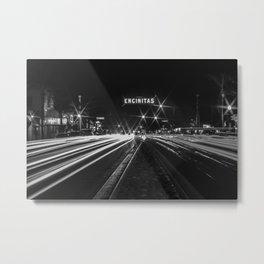 Encinitas sign long exposure Metal Print