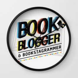 Book Blogger Wall Clock