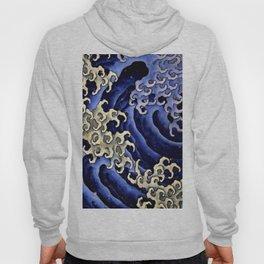 """Hokusai (1760–1849) """"Masculine wave"""" Hoody"""