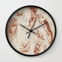 Leonardo Da Vinci anatomical studies Wall Clock