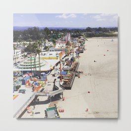 Santa Cruz Boardwalks Aerial View Metal Print
