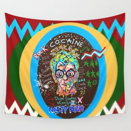 Rock Cocaine Crack Games Remixed Wall Tapestry