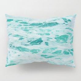 teal waves Pillow Sham