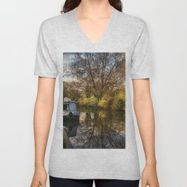 An Autumn Afternoon At Hungerford Unisex V-Neck