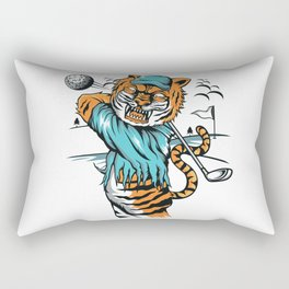 Tiger golfer WITH cap Rectangular Pillow