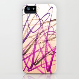 Expressive Royal Fuchsia and Lavender Abstract iPhone Case