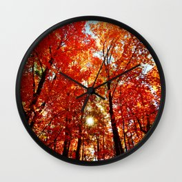 Sun in the Trees Wall Clock