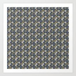 Traditional Japanese pattern KOMOCHI-KIKKO Art Print