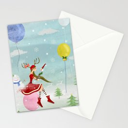 White Christmas Stationery Cards