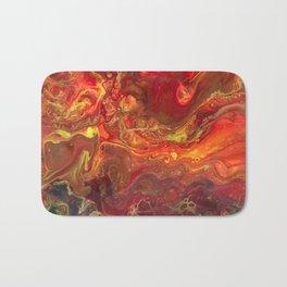 Acrylic Pour #45 Lava-Love Bath Mat