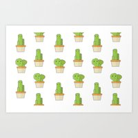 BABY Cacti Pattern Art Print