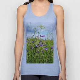 bellflowers in the grass Unisex Tank Top