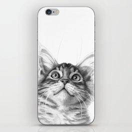 Kitten looking up G115 iPhone Skin