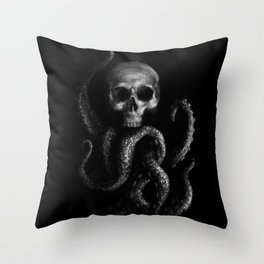 Skullapus Throw Pillow