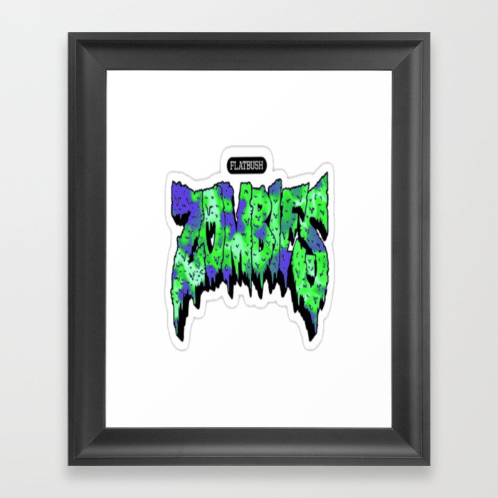 Flatbush Zombies Logo Framed Art Print