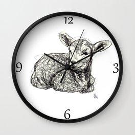 Baby Animals - Lamb Wall Clock