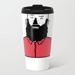 BearD Guy Metal Travel Mug