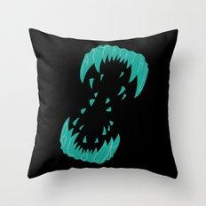 Big Alien Gorilla-Wolf Mother... Throw Pillow
