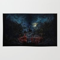castlevania Area & Throw Rugs featuring Castlevania: Vampire Variations- Gates by LightningArts