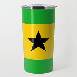 Sao Tome And Principe Flag Travel Mug