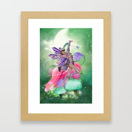 Joyful Fairy .. fantasy Framed Art Print